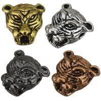 Messing Schmuckperlen, Tiger, plattiert, keine, 13x12x8mm, Bohrung:ca. 2mm, 100PCs/Menge, verkauft von Menge