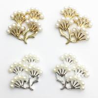 Zinklegierung Haar Accessories DIY Zubehöre, mit Kunststoff Perlen, Branch, plattiert, verschiedene Stile für Wahl, frei von Nickel, Blei & Kadmium, 23x27mm, 10PCs/Menge, verkauft von Menge