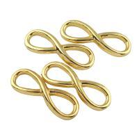 Zinklegierung Schmuck Cabochons, Unendliche, goldfarben plattiert, frei von Blei & Kadmium, 33x12x3mm, 10PCs/Tasche, verkauft von Tasche