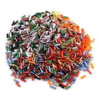 Acryl Schmuck Perlen, gemischte Farben, 2x6mm, Bohrung:ca. 0.5mm, 10Taschen/Menge, verkauft von Menge