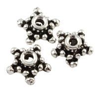 Zinklegierung Perlenkappe, antik silberfarben plattiert, frei von Blei & Kadmium, 10x4.5mm, Bohrung:ca. 1.5mm, 100G/Tasche, verkauft von Tasche