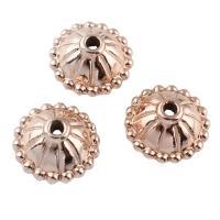 Zinklegierung Perlenkappe, Rósegold-Farbe plattiert, frei von Blei & Kadmium, 10x5mm, Bohrung:ca. 1mm, 20PCs/Tasche, verkauft von Tasche