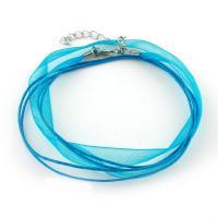 Funkeln Band Halskette Schnur, mit Nylon & Messing, mit Verlängerungskettchen von 5cm, keine, 11x0.5mm, Länge:ca. 15.7 ZollInch, 100SträngeStrang/Tasche, verkauft von Tasche