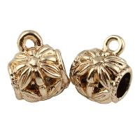 Zinklegierung Stiftöse Perlen, goldfarben plattiert, frei von Blei & Kadmium, 10x13mm, Bohrung:ca. 1.5x5mm, 20PCs/Tasche, verkauft von Tasche