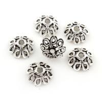 Zinklegierung Perlenkappe, antik silberfarben plattiert, frei von Blei & Kadmium, 8.5x3.5mm, Bohrung:ca. 1.5mm, ca. 333PCs/Tasche, verkauft von Tasche