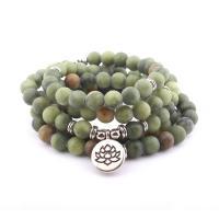 Südliche Jade Wrap Armband, mit Zinklegierung, antik silberfarben plattiert, unisex & satiniert, verkauft per ca. 21 ZollInch Strang