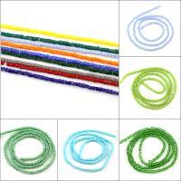 Mode Glasperlen, verschiedene Größen vorhanden, keine, Bohrung:ca. 1mm, 100PCs/Strang, verkauft von Strang