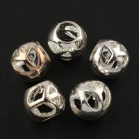 Zink Legierung Europa Perlen, Zinklegierung, Frieden Logo, silberfarben plattiert, ohne troll, frei von Blei & Kadmium, 8X9mm, Bohrung:ca. 5mm, 10PCs/Tasche, verkauft von Tasche