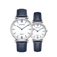 Ehepaar Uhrenarmbänder, Leder, mit Zinklegierung, plattiert, für paar, keine, Länge:ca. 10 ZollInch, verkauft von PC