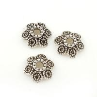 Zinklegierung Perlenkappe, antik silberfarben plattiert, frei von Blei & Kadmium, 10x4mm, Bohrung:ca. 2mm, ca. 230PCs/Tasche, verkauft von Tasche