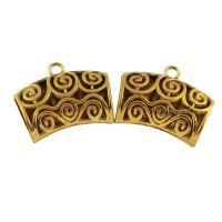 Zinklegierung Stiftöse Perlen, antike Goldfarbe plattiert, frei von Blei & Kadmium, 44x35x15mm, Bohrung:ca. 4mm, verkauft von PC