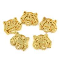 Zinklegierung Schmuck Cabochons, Tiger, goldfarben plattiert, frei von Blei & Kadmium, 22x18x2mm, verkauft von PC