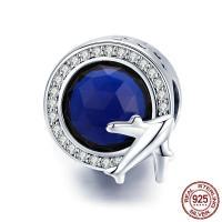 Thailand European Perlen, flache Runde, ohne troll & mit kubischem Zirkonia, 14x11mm, Bohrung:ca. 4.5-5mm, verkauft von PC