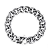 Titanstahl Armband, unterschiedliche Länge der Wahl & Twist oval & für den Menschen & Schwärzen, verkauft von Strang