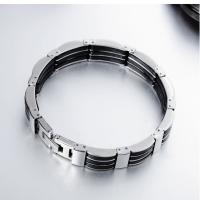 Titanstahl Armband, mit Silikon, für den Menschen, 13mm, verkauft per ca. 8 ZollInch Strang