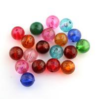 Handgewickelte Perlen, Lampwork, rund, gemischte Farben, 12x12mm, Bohrung:ca. 1.5mm, ca. 550PCs/Tasche, verkauft von Tasche