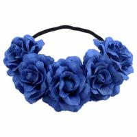 Brautkranz, Baumwollsamt, Blume, für Frau, keine, 90mm, 500mm, verkauft von PC