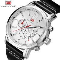 MINIFOCUS® Uhrenkollektion, Zinklegierung, mit Leder & Glas, plattiert, für den Menschen & glänzend, keine, 41x12.5mm, Länge:ca. 9.7 ZollInch, verkauft von PC