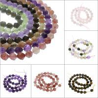 Mischedelstein Perlen, Edelstein, verschiedenen Materialien für die Wahl & facettierte, 10x10mm, Bohrung:ca. 1mm, verkauft per ca. 15.5 ZollInch Strang