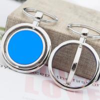 Edelstahl Schlüsselanhänger, mit Acryl, plattiert, unisex, keine, 77x42mm, verkauft von PC