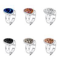 Zinklegierung Open -Finger-Ring, mit Kunststoff, silberfarben plattiert, für Frau, keine, 17mm, Größe:7, verkauft von PC
