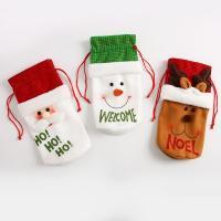 Stoff Weihnachten Wein Bag, Weihnachtsschmuck & verschiedene Stile für Wahl, 140x270mm, 10PCs/Menge, verkauft von Menge