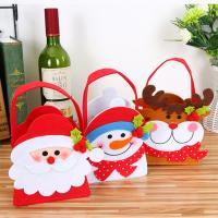 Weihnachtsgeschenkbeutel, Stoff, Weihnachtsschmuck & verschiedene Stile für Wahl, 130x200mm, 10PCs/Menge, verkauft von Menge