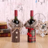 Stoff Weihnachten Wein Bag, Weihnachtsschmuck & verschiedene Muster für Wahl, 170x240mm, 10SträngeStrang/Menge, verkauft von Menge