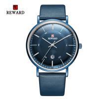 Reward® Uhrenkollektion, Zinklegierung, mit PU Leder & Glas, plattiert, für den Menschen, keine, 43mm, Länge:ca. 9 ZollInch, verkauft von PC