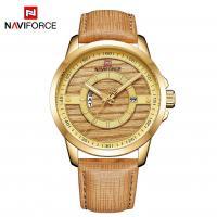NAVIFORCE® Uhrenkollektion, Zinklegierung, mit PU Leder & Glas, plattiert, für den Menschen, keine, 43mm, Länge:ca. 10.2 ZollInch, verkauft von PC