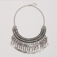 Zinklegierung Franse Halskette, mit Verlängerungskettchen von 2lnch, antik silberfarben plattiert, Twist oval & für Frau, frei von Nickel, Blei & Kadmium, verkauft per ca. 18 ZollInch Strang