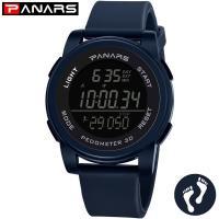 PANARS® Uhrenkollektion, Edelstahl, mit Silikon & Kunststoff, plattiert, einstellbar & LED & für den Menschen, keine, 55x17mm, 22.5mm, Länge:ca. 10.2 ZollInch, verkauft von PC