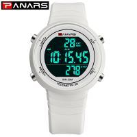PANARS® Uhrenkollektion, Edelstahl, mit Silikon & Kunststoff, plattiert, Multifunktions & einstellbar & LED & für den Menschen, keine, 43.5x12.8mm, 23mm, Länge:ca. 9.8 ZollInch, verkauft von PC
