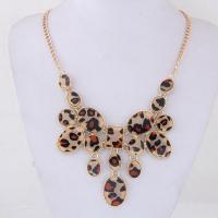 Zinklegierung Schmuck Halskette, mit Planke, goldfarben plattiert, Twist oval & verschiedene Stile für Wahl & für Frau, frei von Blei & Kadmium, verkauft per ca. 17.7 ZollInch Strang