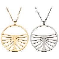 Edelstahl Schmuck Halskette, mit Verlängerungskettchen von 2Inch, Kreisring, plattiert, unisex & Oval-Kette, keine, 30x34x1mm, verkauft per ca. 18 ZollInch Strang