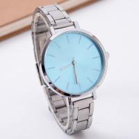 Unisexe Armbanduhr, Zinklegierung, mit Glas, silberfarben plattiert, keine, frei von Nickel, Blei & Kadmium, 40mm, Länge:ca. 9.5 ZollInch, 2PCs/Menge, verkauft von Menge