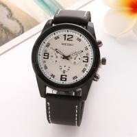 Herren Armbanduhr, Zinklegierung, mit Glas & Silikon, für den Menschen, keine, frei von Nickel, Blei & Kadmium, 40mm, Länge:ca. 9.5 ZollInch, 2PCs/Menge, verkauft von Menge