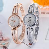 Damen Uhrenarmband, Zinklegierung, mit Glas, plattiert, für Frau & mit Strass, keine, frei von Nickel, Blei & Kadmium, 25mm, 12mm, Länge:ca. 7.5 ZollInch, verkauft von PC