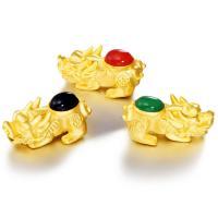 Messing Armbänder Zubehöre, mit Achat, Fabelhaft wildes Tier, 24 K vergoldet, keine, frei von Nickel, Blei & Kadmium, 30mm, Bohrung:ca. 1-2mm, verkauft von PC