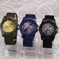 Herren Armbanduhr, Segeltuch, mit Zinklegierung Zifferblatt & Glas, für den Menschen, keine, 23x6mm, Länge:ca. 6.5 ZollInch, verkauft von PC