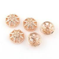 Zinklegierung Perlenkappe, Rósegold-Farbe plattiert, frei von Blei & Kadmium, 10x4mm, Bohrung:ca. 1mm, 20PCs/Tasche, verkauft von Tasche