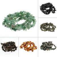 Edelstein Schmuckperlen, Klumpen, verschiedenen Materialien für die Wahl, 5-15mm, Bohrung:ca. 1mm, verkauft per ca. 32 ZollInch Strang