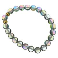 Kristall Armbänder, mit Edelstahl, goldfarben plattiert, für Frau, 8mm, verkauft per ca. 7 ZollInch Strang