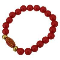 Roter Achat Armbänder, mit Edelstahl, goldfarben plattiert, für Frau, 15x10mm, 10mm, verkauft per ca. 8 ZollInch Strang