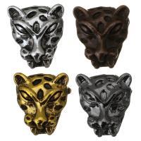 Messing Schmuckperlen, Tiger, plattiert, keine, 11x12x7mm, Bohrung:ca. 2mm, 50PCs/Menge, verkauft von Menge