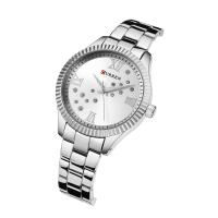 CURREN%C2%AE+Frauen+Schmuck+Uhr, Zinklegierung, mit Glas, plattiert, für Frau & mit Strass, keine, 36mm, Länge:ca. 8.6 ZollInch, verkauft von PC
