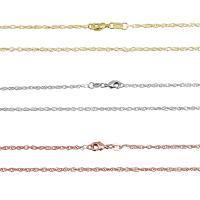 Messingkette Halskette, Messing, plattiert, kompulizierte Kette & unisex, keine, 2mm, 30SträngeStrang/Strang, verkauft per ca. 27 ZollInch Strang