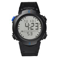 honhx® Uhrenkollektion, Harz, mit PU-Gummi & organisches Glas & Edelstahl, plattiert, für den Menschen & glänzend, keine, 50mm, Länge:ca. 10.5 ZollInch, verkauft von PC