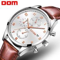 DOM® Uhrenkollektion, Edelstahl, mit Mikrofaser PU & Glas, plattiert, für den Menschen, keine, 42mm, Länge:ca. 8 ZollInch, verkauft von PC