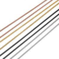 Halskette, Edelstahl, plattiert, unisex & Twist oval, keine, 3mm, verkauft per ca. 24 ZollInch Strang